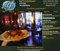 AJs Grille Web Site
